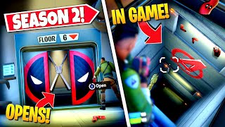 *NEW* OPENING SEASON 2 DEADPOOL *ELEVATOR* EASTER EGG IN-GAME! (Battle Royale)