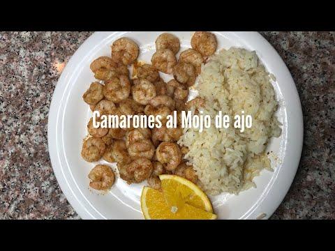 Camarones al Mojo de ajo en salsa de almendra - Cocinemos Con Carolina