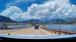 Scenic Mountain Drive into Estes Park, Colorado