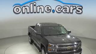 A10093WT Used 2014 Chevrolet Silverado 1500 LT 4WD Double Cab Gray Test Drive, Review, For Sale