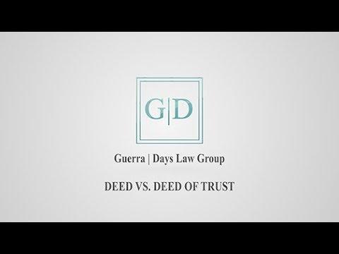 Deed Vs. Deed of Trust