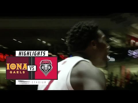 Iona vs. New Mexico Basketball Highlights (2018-19) | Stadium