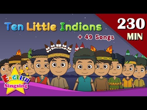 Ten Little Indians + More Number Songs  Top 50 Nursery Rhymes with lyrics  English kids