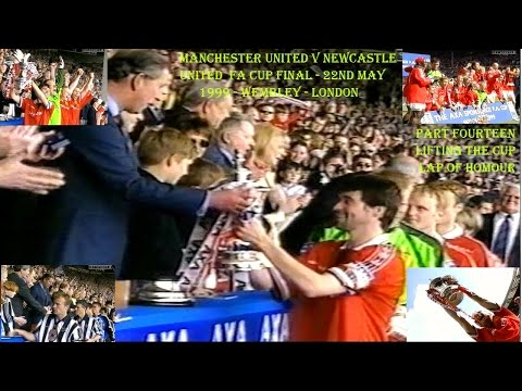 MANCHESTER UNITED FC  V NEWCASTLE UNITED FC- FA CUP FINAL 1999-  LIVE MATCH - PART FOURTEEN