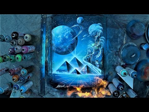 Ancient space - SPRAY PAINT ART by Skech