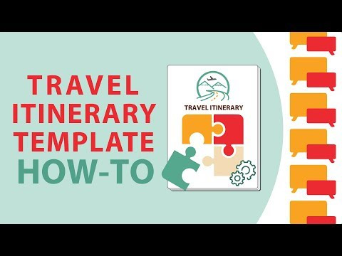 How To Use A Travel Itinerary Template