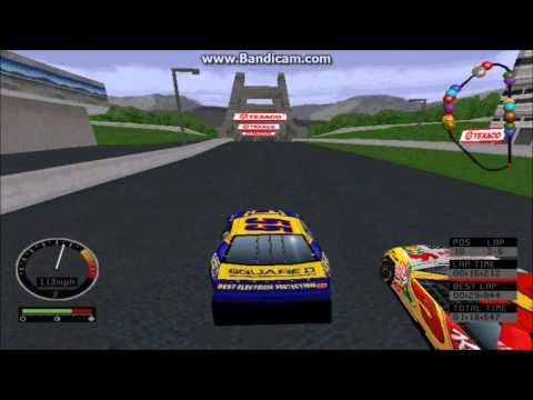 NASCAR Road Racing (PC) Gameplay (Kenny Wallace) (Bridgeport Speedway) (5 Laps)