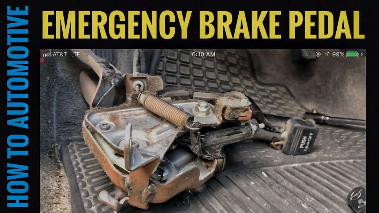 How to Replace the Emergency Brake Pedal Assembly on a 20002006 Toyota Tundra  YouTube