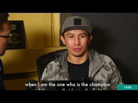"""GGG INTERVIEW """"FINALLY THE TRUTH COMRS OUT"""" CANELO ALVAREZ"""