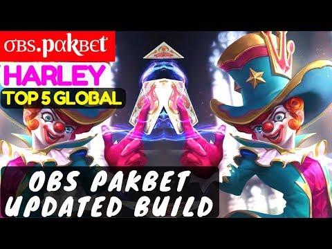 Obs Pakbet Updated Build [Top 5 Global Harley] | σвѕ.pαkвєt Harley Gameplay #4 Mobile Legends