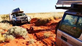 GALL BOYS - CANNING STOCK ROUTE - AUSTRALIA - LC200 & CARAVAN