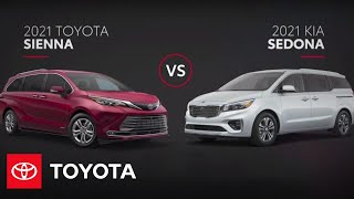 homepage tile video photo for 2021 Toyota Sienna vs Kia Sedona Minivan Comparison | Toyota