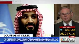 Menendez Reacts to Briefing from CIA Director on Saudi Arabia's involvement in Khashoggi Murder