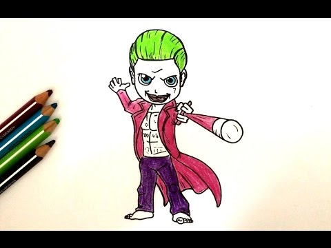 comment dessiner le joker chibi suicide squad youtube. Black Bedroom Furniture Sets. Home Design Ideas