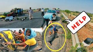 Insaan Bano 🙏 Madad karo - Highway Accident