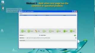 a pdf content splitter 3.5.0