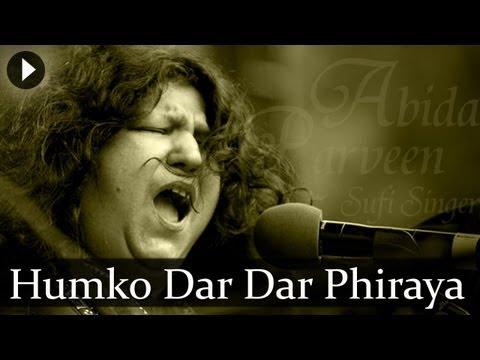 Humko Dar Dar Phiraya  Abida Parveen  Top Sufi Songs