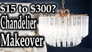 Thrift Store Makeover Furniture ✨ Chandelier on a budget DIY Ceiling Light Fixtures