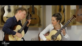 Duo Barlotta Egielman plays Bach's French Suite No. 5 BWV 816 on a 2018 J. Fuller and 2018 T. Dauge
