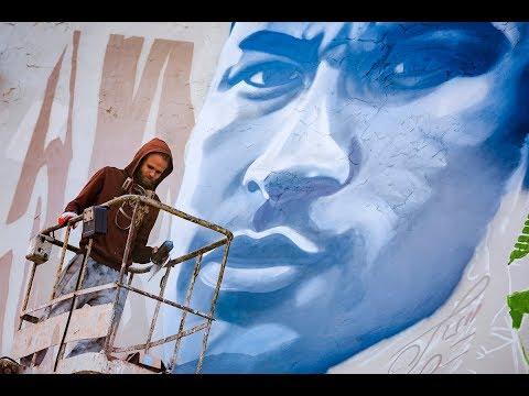 Неймар в Казани: в столице появилось новое граффити к приезду бразильского футболиста