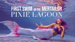 First Swim in the Mertailor Pixie Lagoon Whimsy Tail for the Fantasea Fin Three!