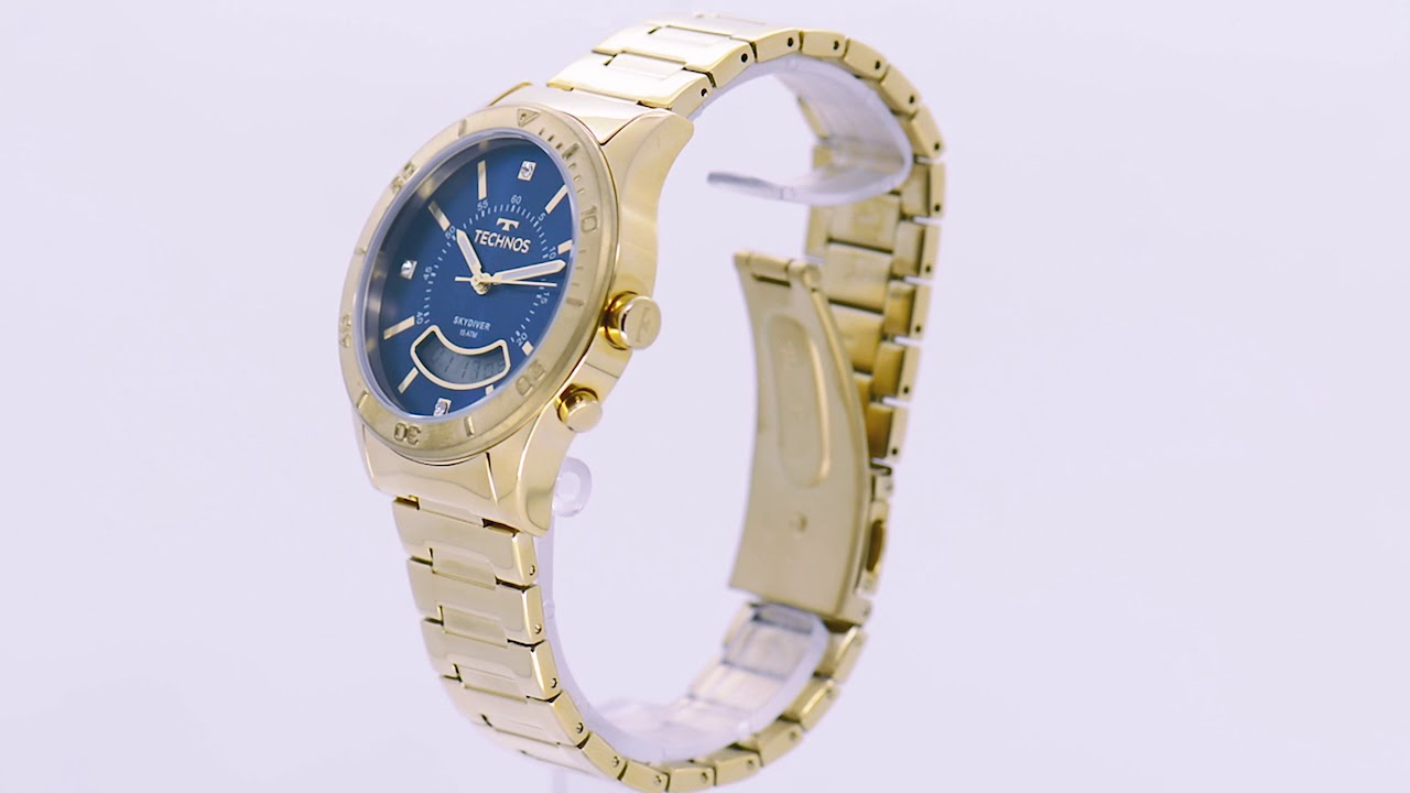 0a550b6517414 Relógio Technos Feminino Skydiver T205FS 4A - Eclock - YouTube