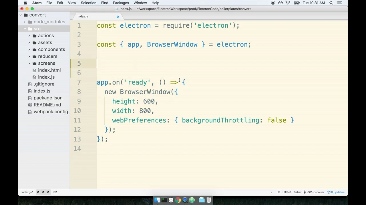 Electron js + React 2019: Lesson 4 | Starting Up Electron With Webpack |  Tutorial