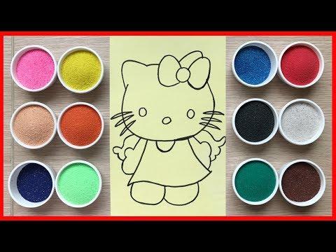 Đồ chơi trẻ em TÔ MÀU TRANH CÁT mèo HELLO KITTY thiên thần - Colored Sand Painting (Chim Xinh)