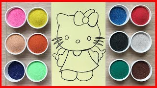Colored Sand Painting Hello Kitty With Angel Wings (Chim Xinh)