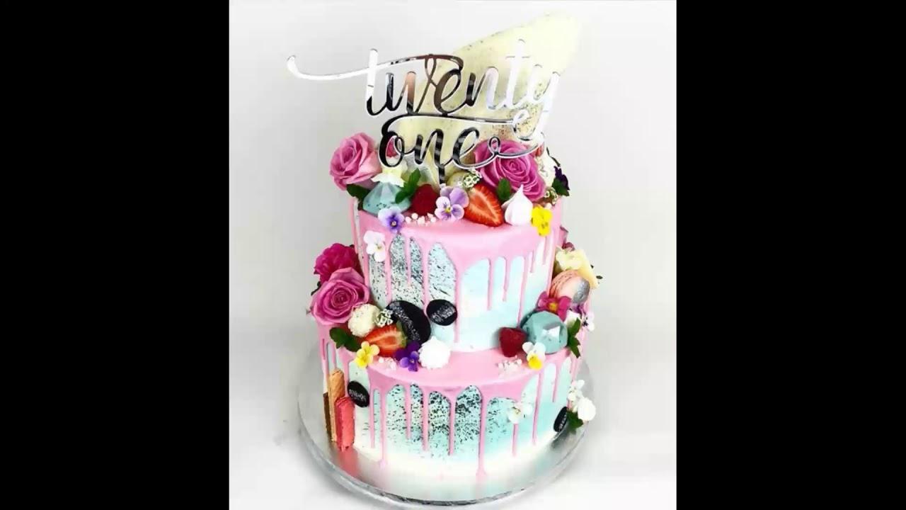 21st Birthday Cake Ideas Youtube