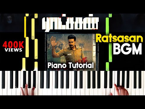 Ratsasan Bgm Piano Cover | Christopher BGM Ratsasan | Ratchasan Piano Bgm Sheet Music Tutorial  |