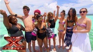 The girls go swimming with sting rays - Judges Houses - The Xtra Factor UK 2013