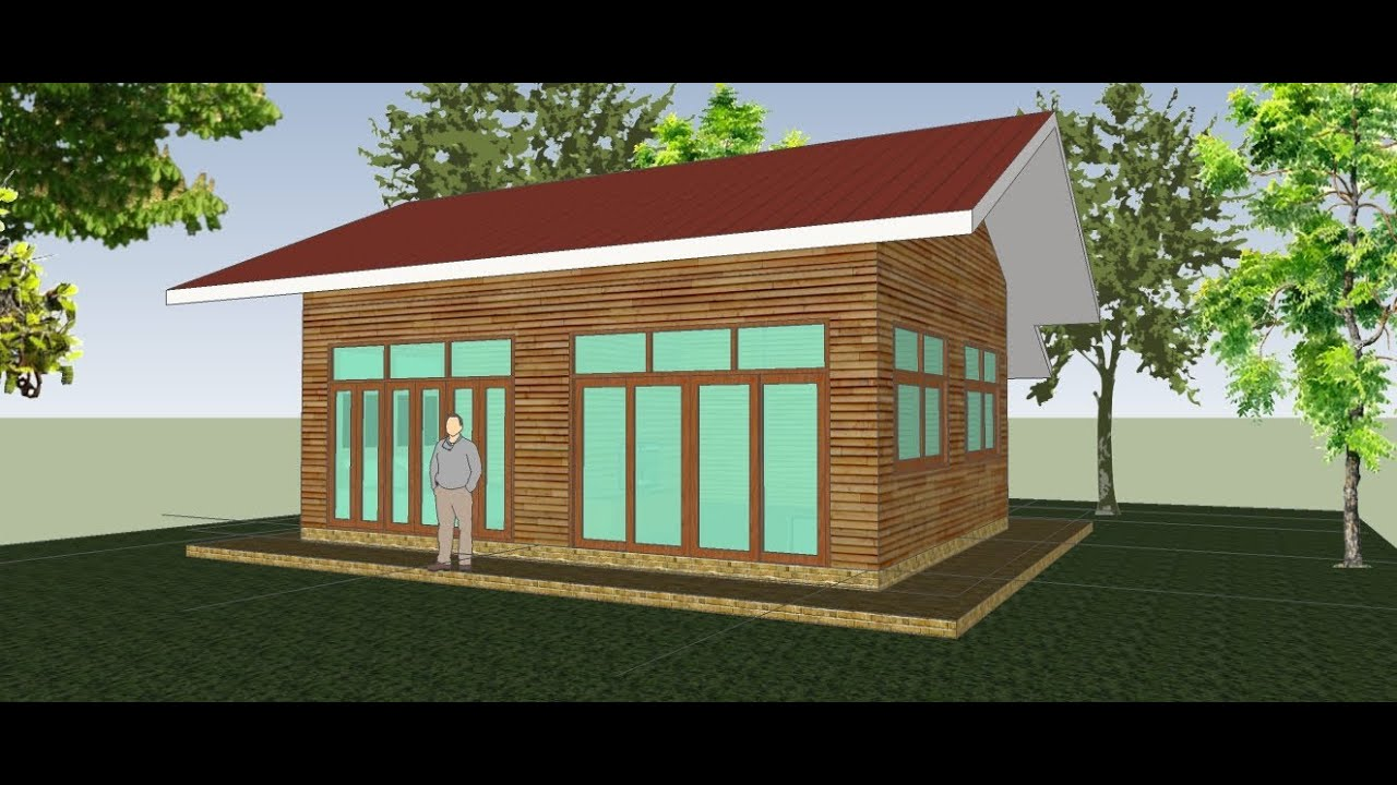 small house plan : sketchup 2013 tutorials : how to make a tiny