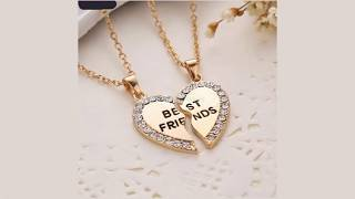 Download lagu Best Friend Broken Heart Necklaces Rhinestone Pendant