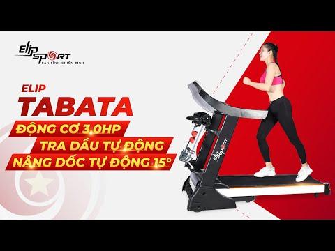 Máy chạy bộ điên đa năng Elip Tabata