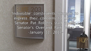 'Indivisible' constituents struggle to express concerns to KS Sen. Pat Roberts 1-31-17