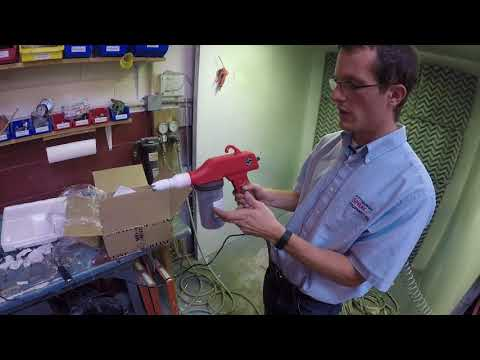 Red Line EZ 50 Powder Coating Gun Review and Demo