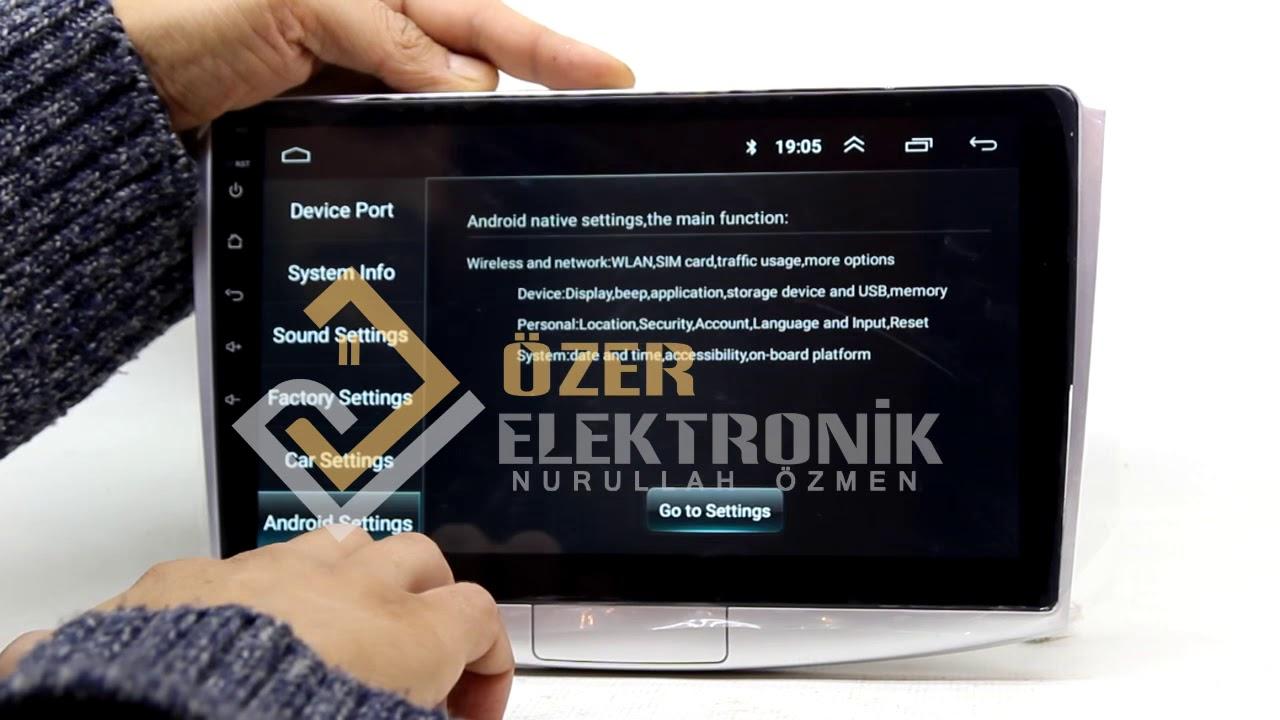 Renault Symbol Araca Navigold DS 619 Android Multimedya Montajı, Direksiyon Kumanda Aktif Etme