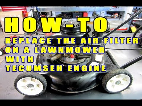 Lawnmower Air Filter Replacement With Tecumseh Engine