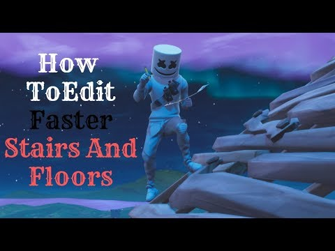 How to become faster in editing stairs/floor.. | Easy to practice | New marshmello Skin