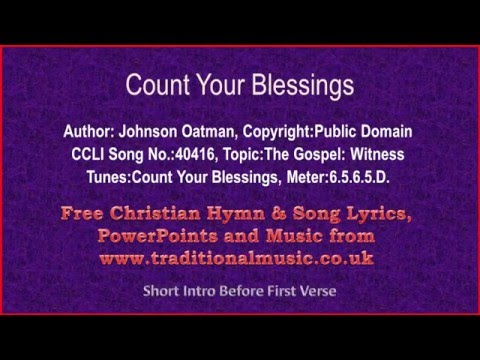 Count Your Blessings - Hymn Lyrics & Music