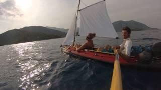 kayak amazon II sous voile dans les iles ioniennes