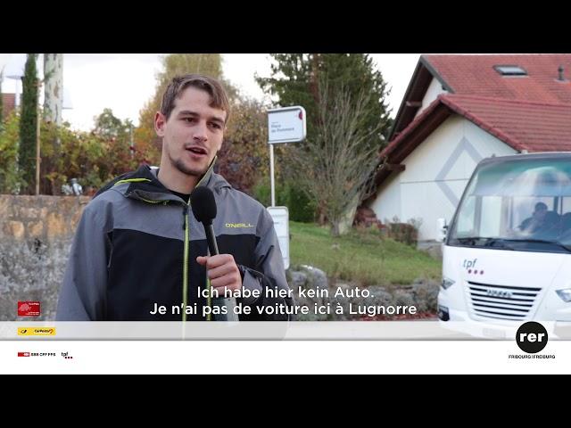 Série de témoignages d'usagers des Transports publics fribourgeois (TPF)