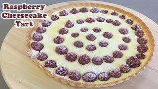 Raspberry Cheesecake Tart - Cheeky Crumbs
