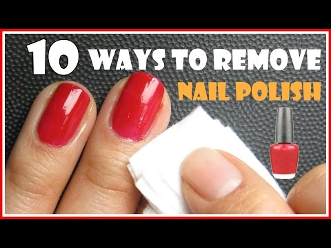 10 Ways To Remove Nail Polish With And Without Removers Meliney