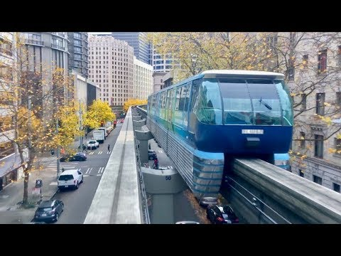 Seattle Monorail Beautiful Fall Colors!