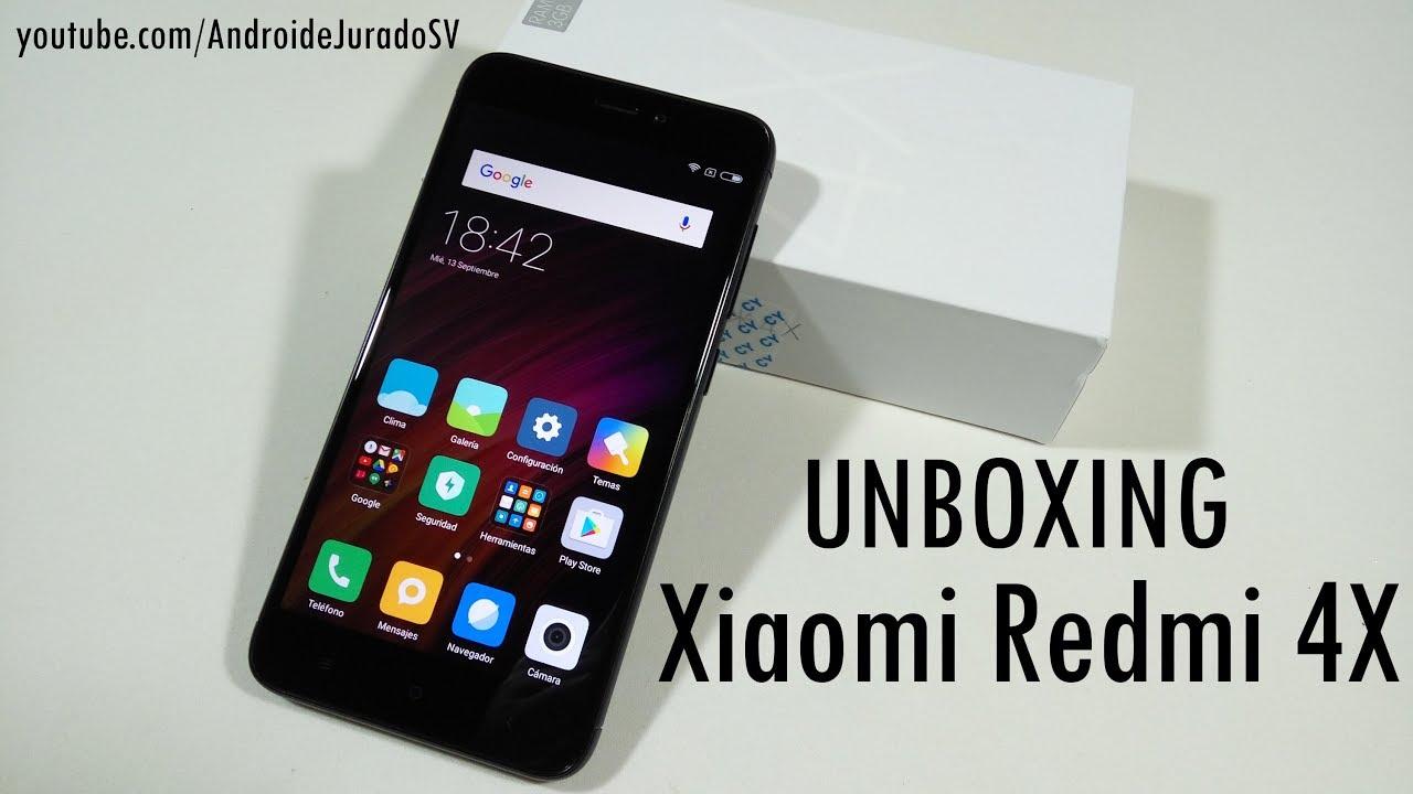 Unboxing Xiaomi Redmi 4x Black De 3 32 D Youtube
