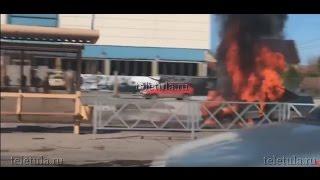 В Туле недалеко от автосалона сгорел автомобиль