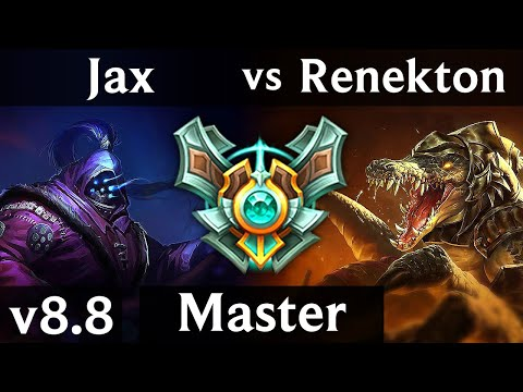 JAX vs RENEKTON (TOP) ~ 1000+ games, Dominating ~ Korea Master ~ Patch 8.8