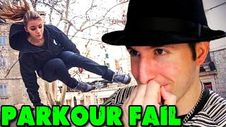 PARKOUR EPIC FAIL COMPILATION #2 - PARODIA REACTION